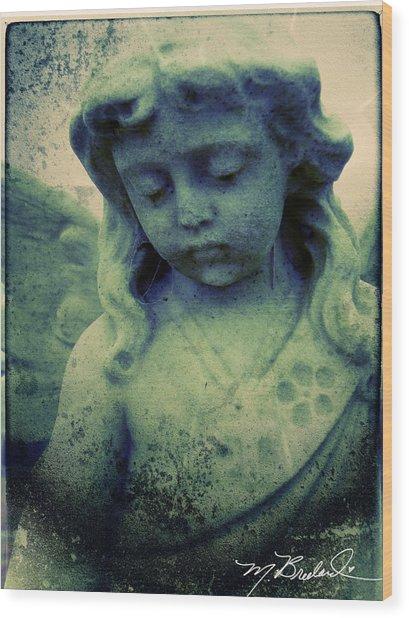 The Texture Of Sadness Wood Print by Melissa Wyatt