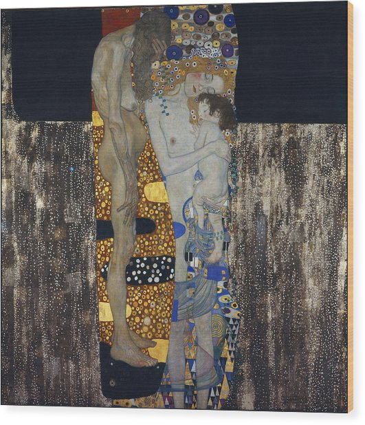 The Three Ages Of Woman Gustav Klimt Wood Print