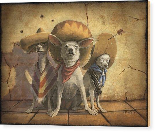 The Three Banditos Wood Print