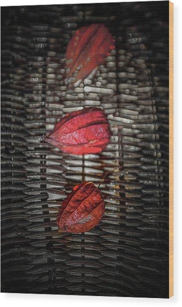The Three Reds Wood Print