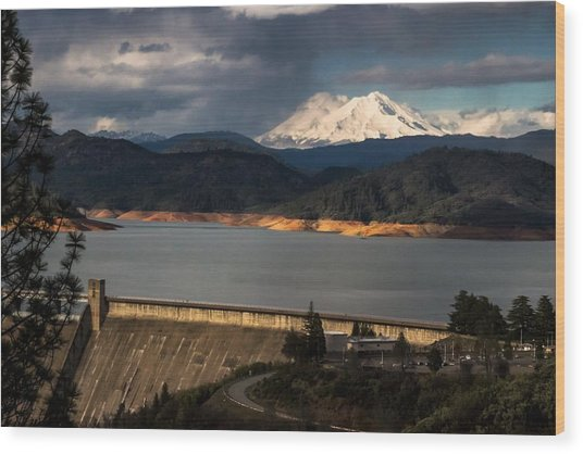 The Three Shasta's Wood Print