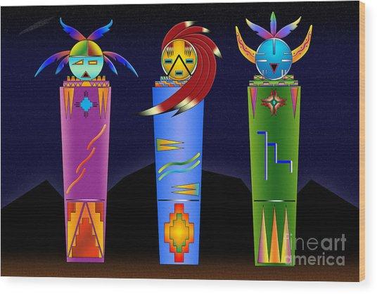 The Three Spirits Wood Print