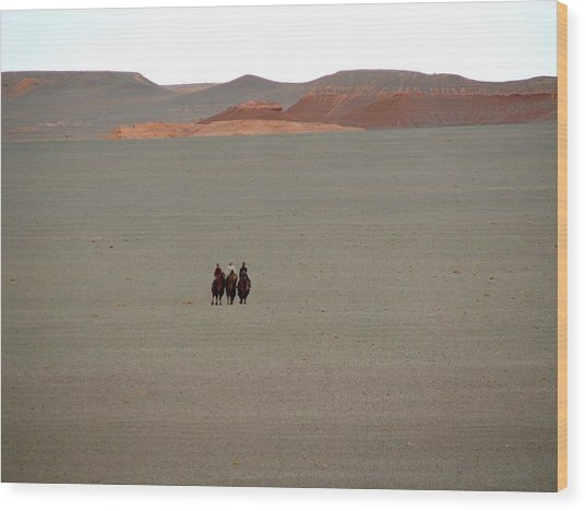 The Three Wisewomen Of The Gobi Wood Print