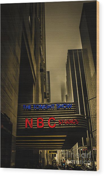 The Tonight Show Nbc Studios Rockefeller Center Wood Print