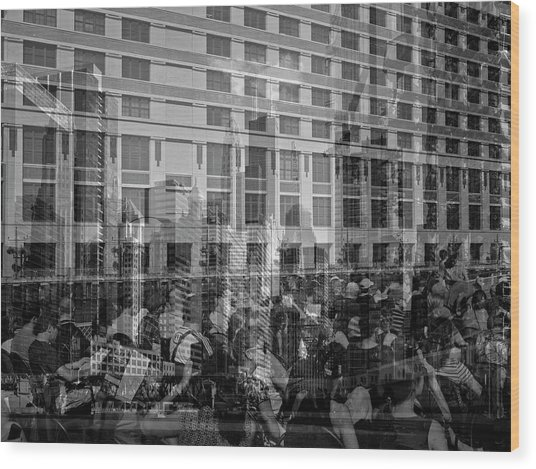 The Tourists - Chicago 04 Wood Print