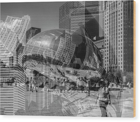 The Tourists - Chicago Wood Print