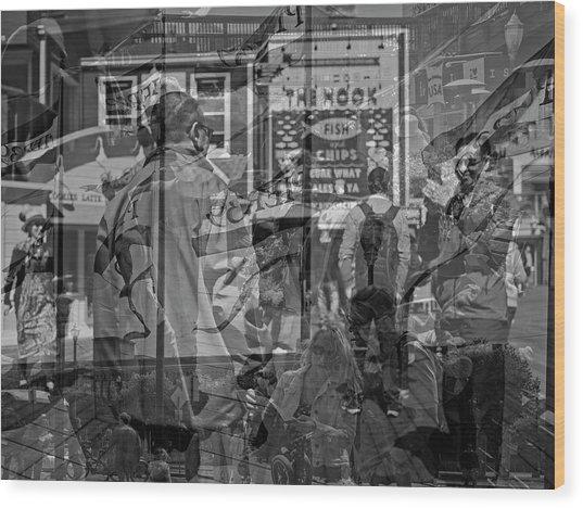 The Tourists - Pier 39 Wood Print