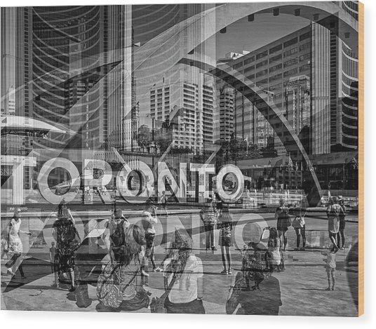 The Tourists - Toronto Wood Print