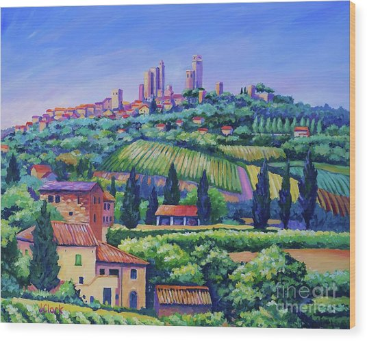 The Towers Of San Gimignano Wood Print