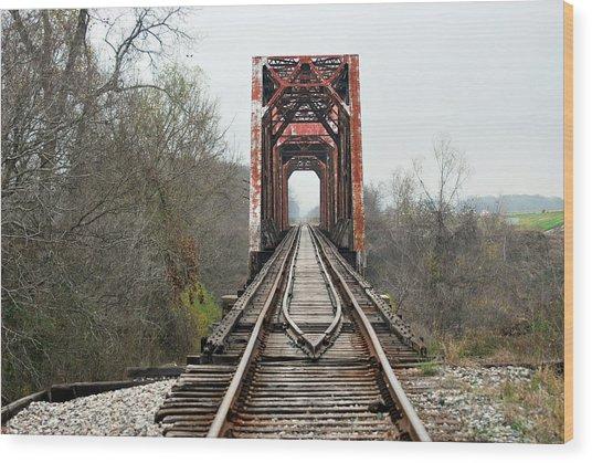 The Tracks Wood Print by Teresa Blanton