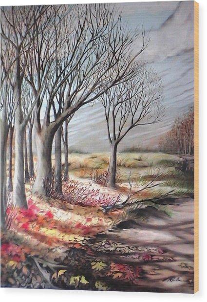 The Trail - Le Chemin Wood Print
