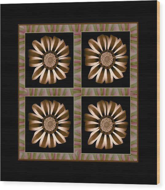 The Transformation Of Flower 1 - Stasis Wood Print by Jacqueline Migell