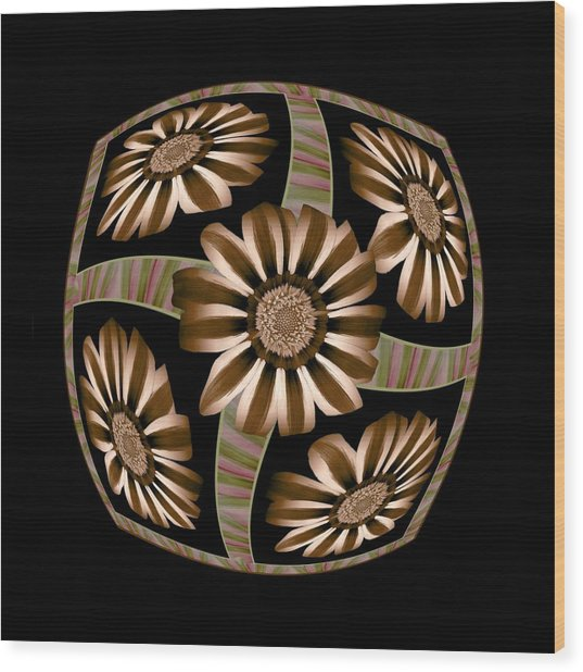The Transformation Of Flower 4 - Growth Wood Print by Jacqueline Migell