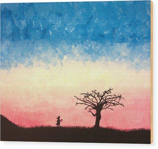 The Tree Wood Print by Jennifer Hernandez