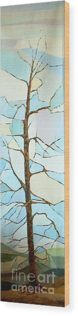 The Tree Sky Song Wood Print by Judith Espinoza