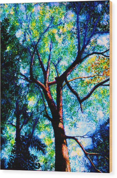 The Tree Wood Print by Stan Hamilton