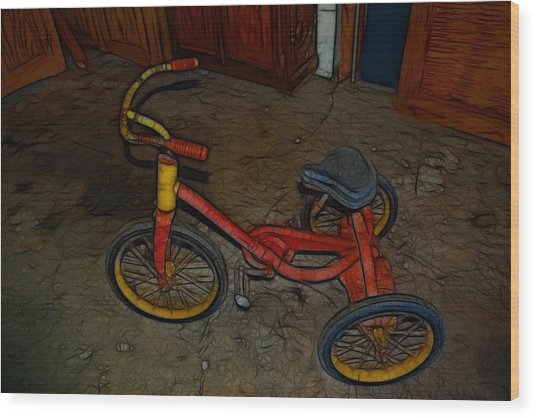 The Tricycle Wood Print