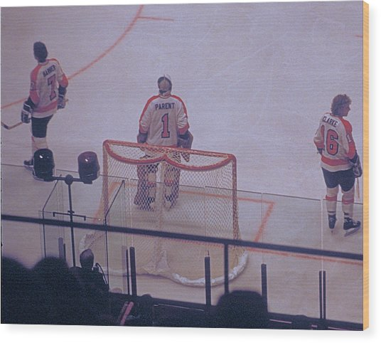 The Triumvirate - Bobby, Bernie, And Billy - Vintage Philadelphia Flyers Wood Print