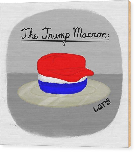 The Trump Macron Wood Print