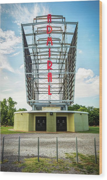 The Tulsa Admiral Twin Drive-in Wood Print