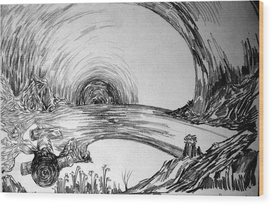 The Tunnel Wood Print