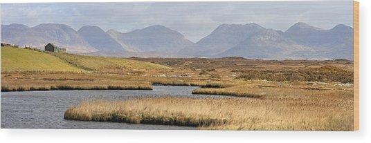 The Twelve Bens Mountains Connemara Ireland Wood Print
