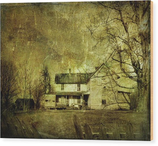 The Uninvited Wood Print