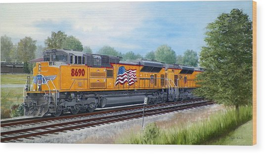 The Up 8690 Wood Print