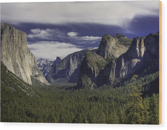 The Valley Wood Print by Jim Riel