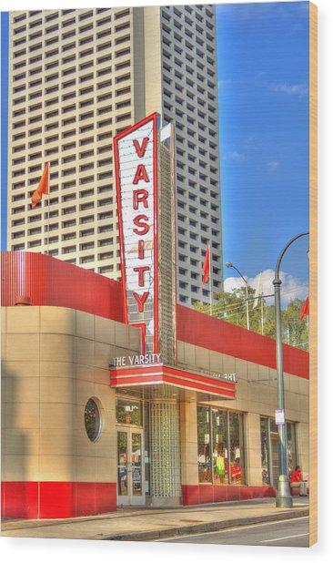 The Varsity Frontdoor Atlanta Georgia Landmark Art Wood Print