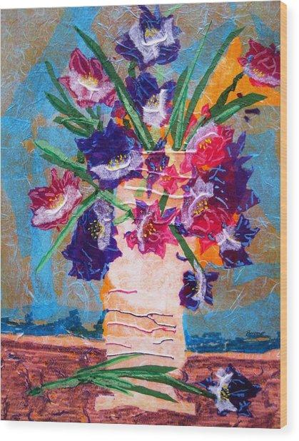 The Vase Wood Print by David Raderstorf