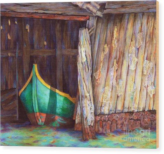 The Venetian Boathouse Wood Print by Winona Steunenberg