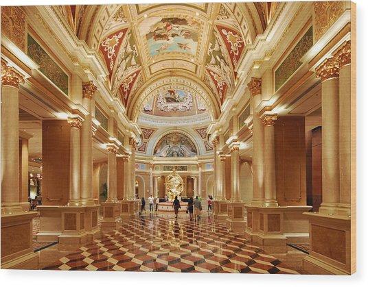The Venetian Hotel Lobby  Las Vegas Wood Print