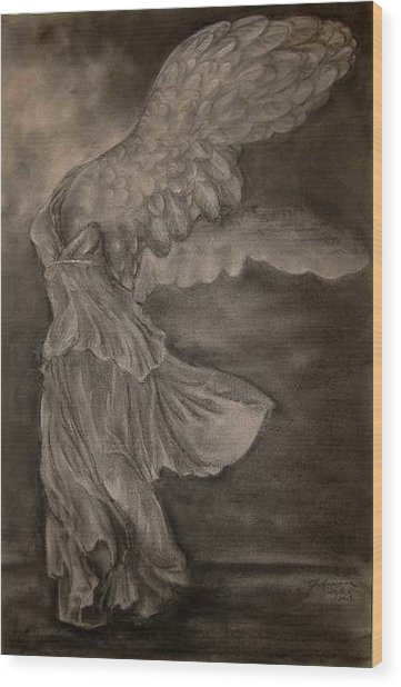 The Victory Of Samothrace Wood Print by Julianna Ziegler