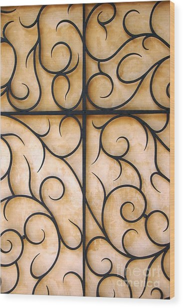 The Vine Wood Print by Hideaki Sakurai