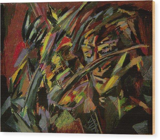 The Violinist Wood Print by Tadeush Zhakhovskyy