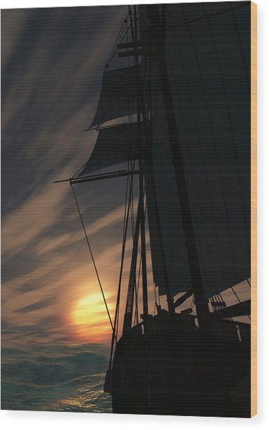 The Voyage Home  Wood Print