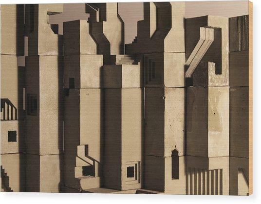 The Wall 1 Wood Print by David Umemoto