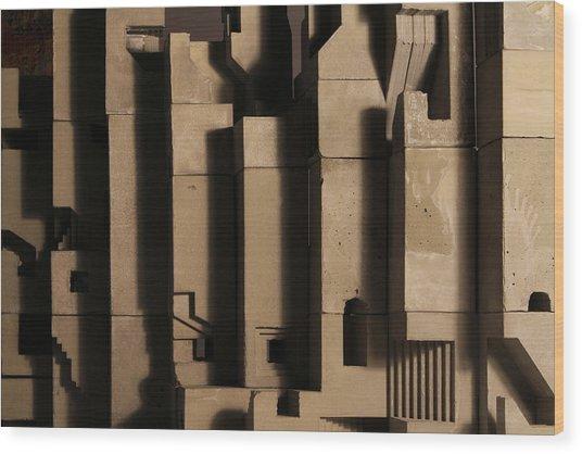The Wall 3 Wood Print by David Umemoto