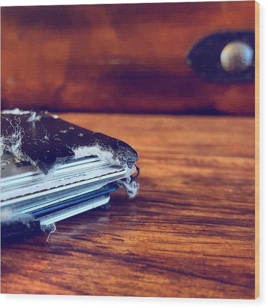 The Wallet II Wood Print by Daniel Donche