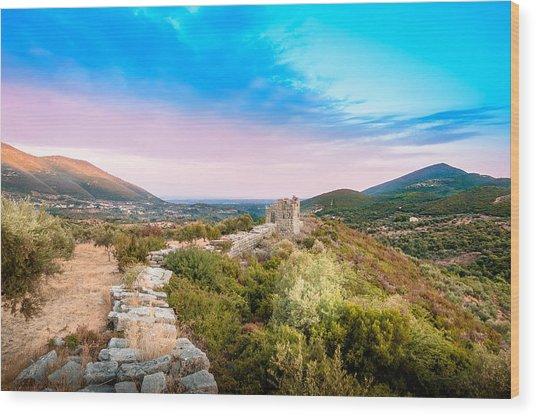 The Walls Of Ancient Messene - Greece. Wood Print