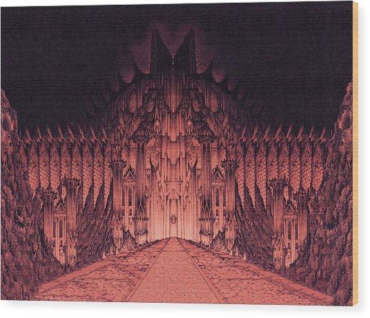 The Walls Of Barad Dur Wood Print