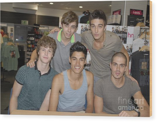 The Wanted Wood Print