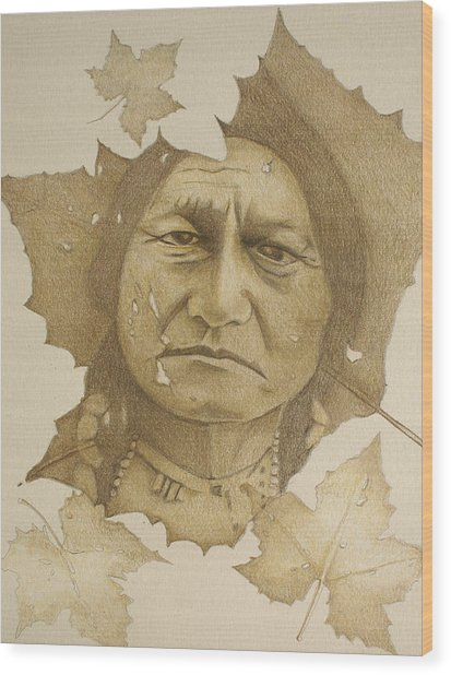 The War Chief Wood Print