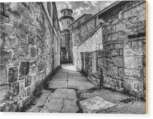 The Watch Tower Eastern State Penitentiary Wood Print