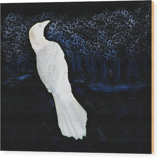 The Watcher In The Forest Wood Print