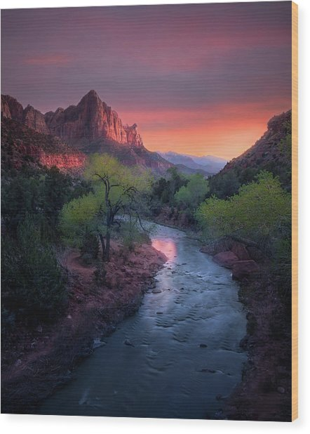 The Watchman // Zion National Park  Wood Print