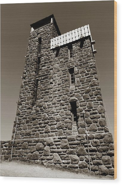 Wood Print featuring the photograph The Water Tower At Mount Constitution by Lorraine Devon Wilke