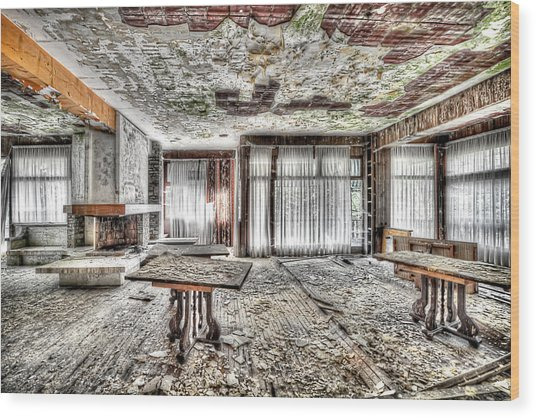 The Waterfall Hotel - L'hotel Della Cascata Wood Print