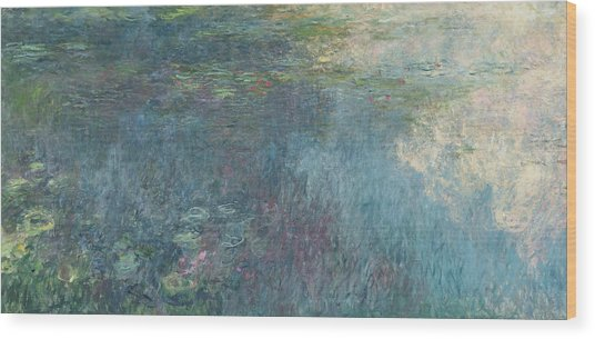 The Waterlilies  The Clouds Wood Print